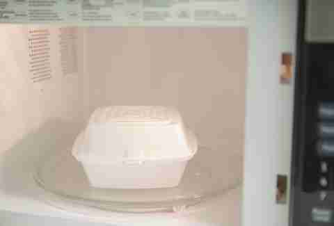 styrofoam in microwave