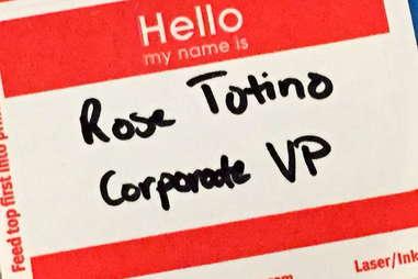 Rose Totino nametag