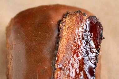 maple glazed long john
