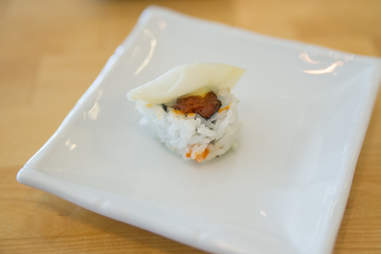 sushi with ginger