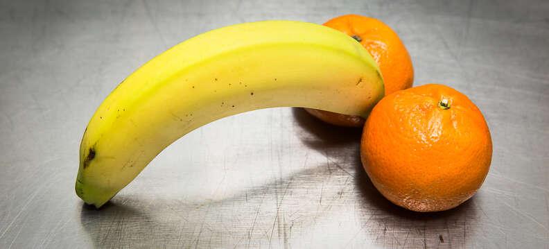 banana and oranges