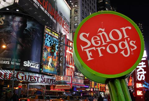 TIMES SQUARE SENOR FROGS NYC