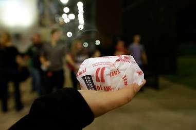Jimmy John's wrapped sandwich