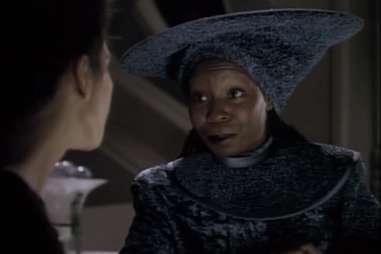 Guinan on Star Trek: Next Generation