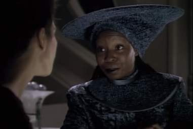 Guinan on Star Trek: Next Generation
