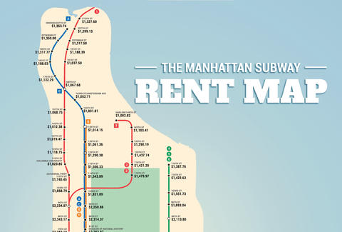 the manhattan subway rent map where you cant afford to live by stop