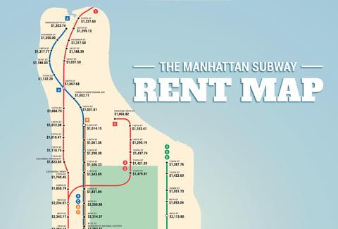 Columbus Circle Subway Map.Manhattan Subway Rent Map Thrillist