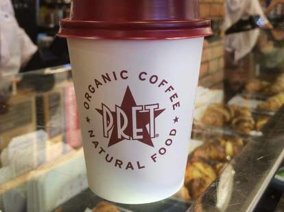 Pret a Manger coffee