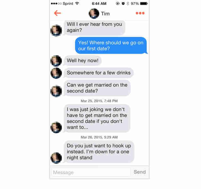 Tinder one night stands