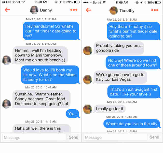 Tinder for one night stands
