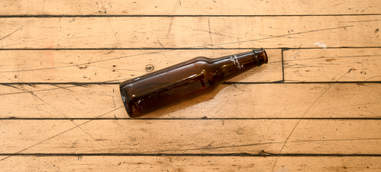 broken craft beer bottle