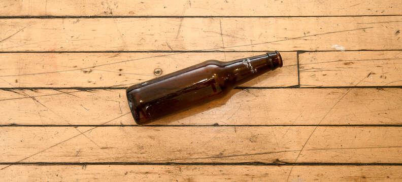 broken craft beer bottle