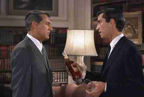 Cary Grant and Martin Landau in North by Northwest