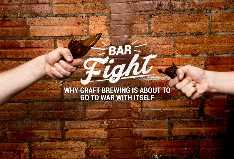 bar fight broken beer bottle