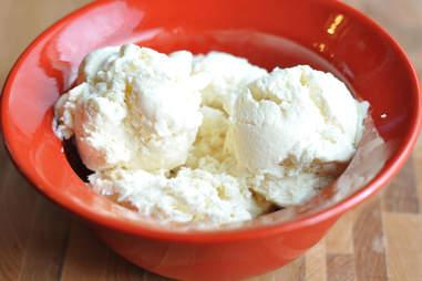 Classic vanilla ice cream