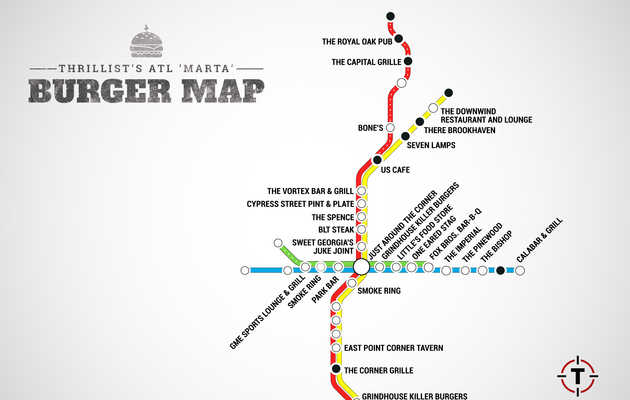 The MARTA Burger Map