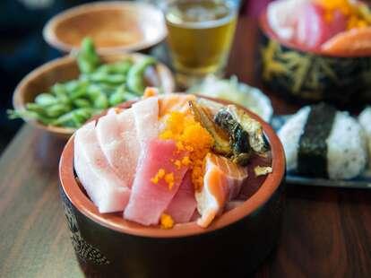 sushi tuna salmon edamame at musashi's in seattle