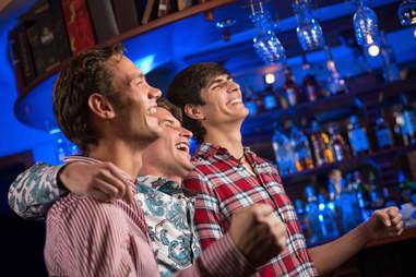 bros at a bar