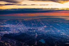 See LA Dazzle From Above in These Incredible Nighttime Aerial Photos