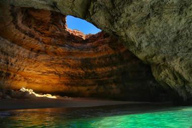 benagil beach sea cave portugal algarve