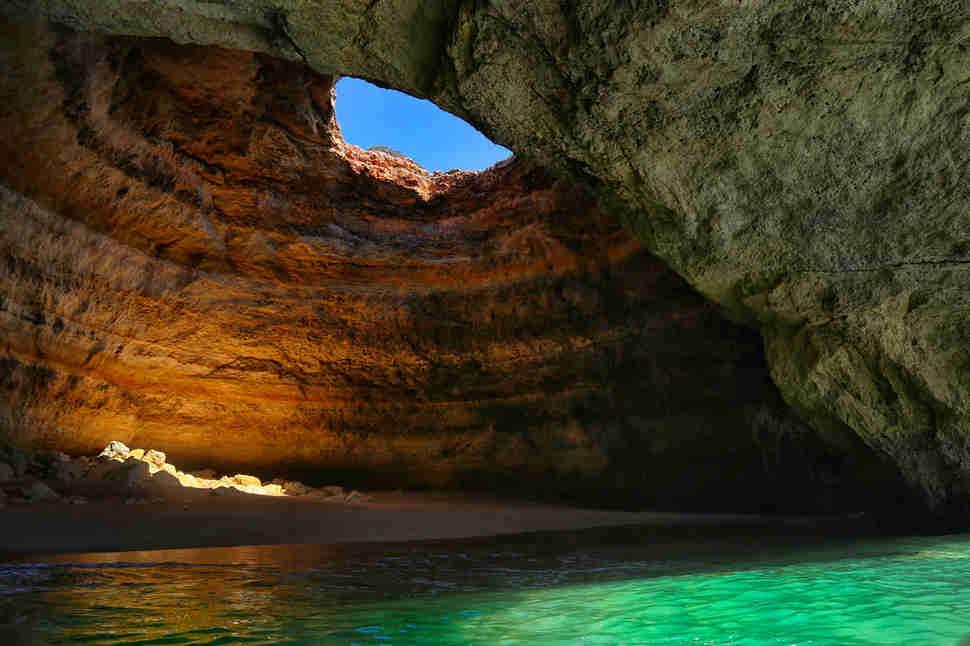 benagil beach sea cave portugal algarve - Cool Pools With Caves