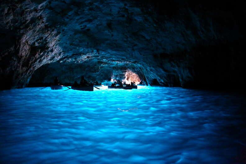 blue grotto capri italy