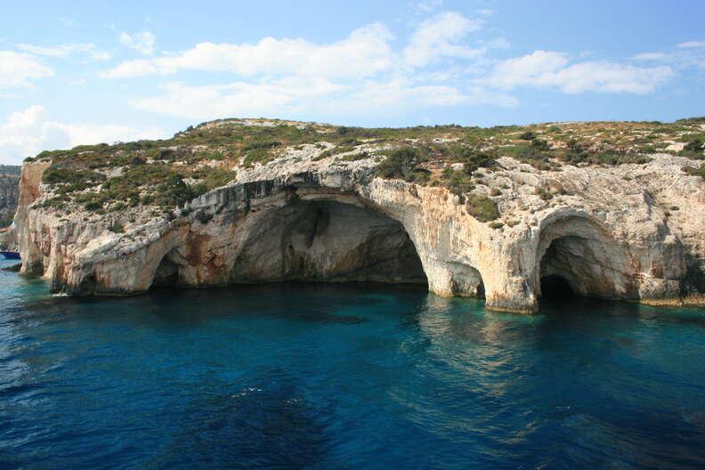 blue caves zakynthos greece