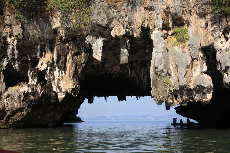 phang nga bay caves thailand