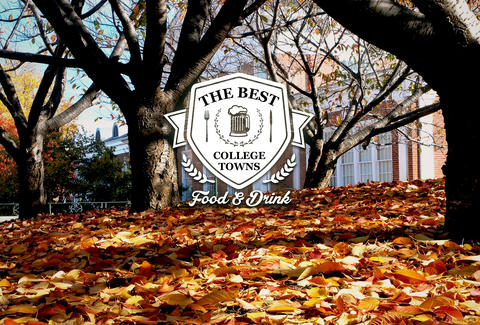 best college towns for food & drink
