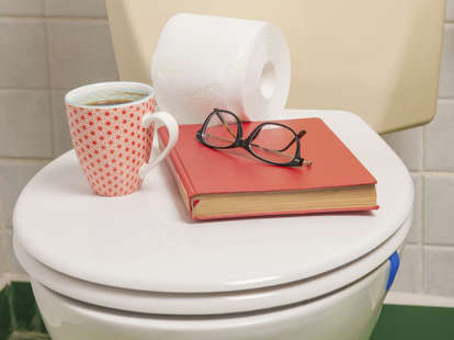 coffee on toilet