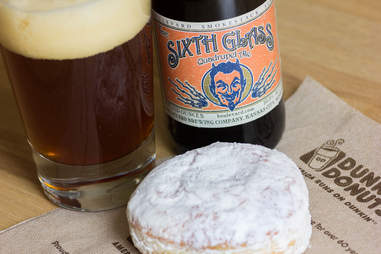 Dunkin Donuts and beer