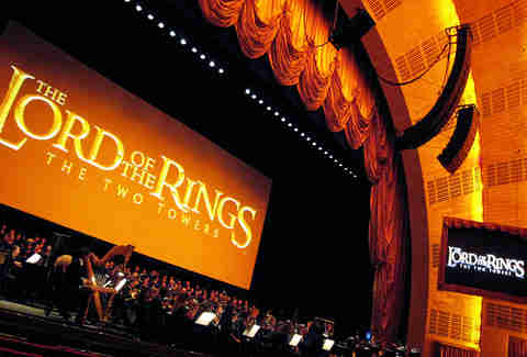 Live orchestra performance of Lord of the Rings