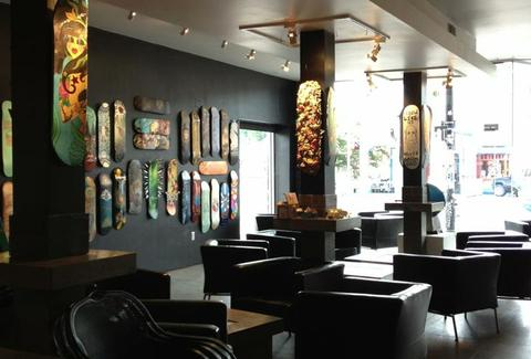 interior of twenty-two wine bar and art gallery in charlotte north carolina