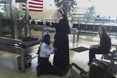 Nun getting searched