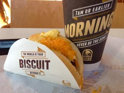 Taco Bell biscuit taco
