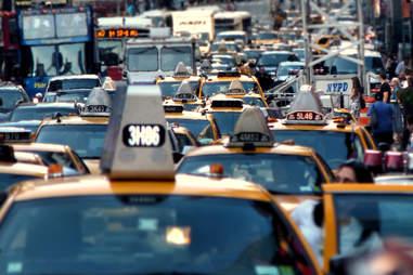 cab traffic jam nyc