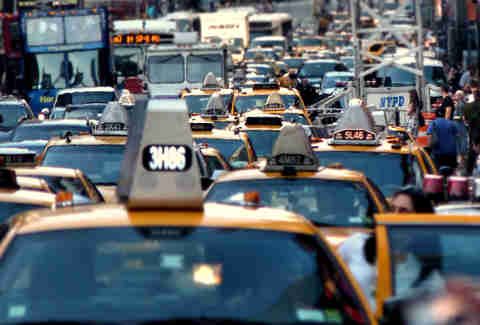 cab traffic jam nyc