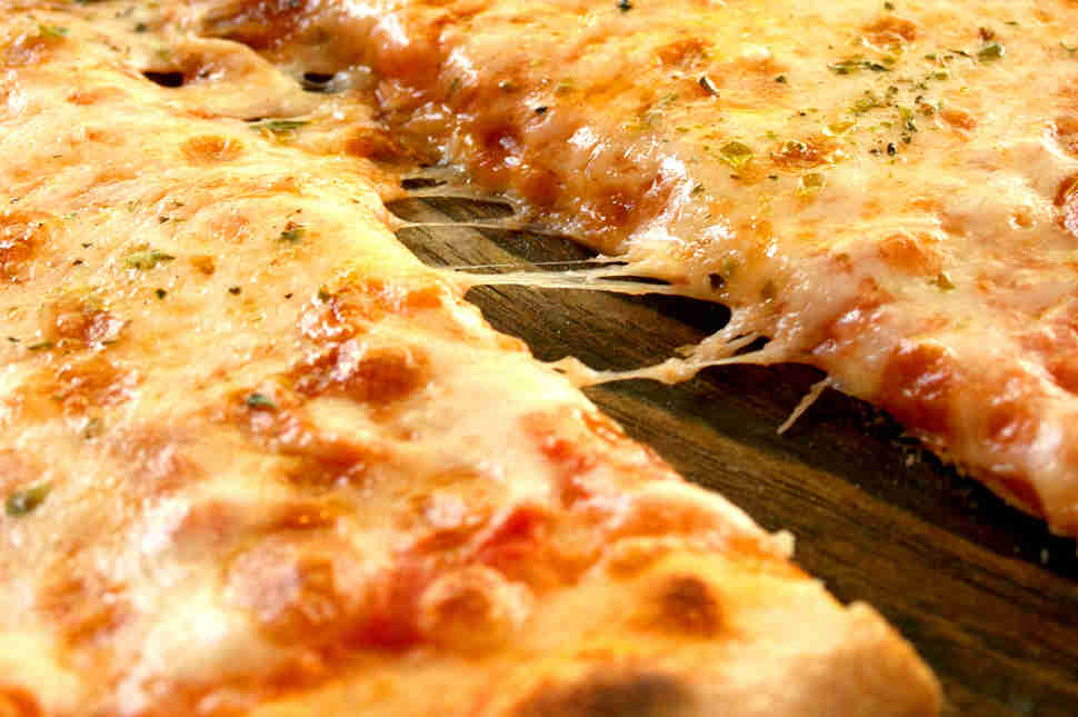 Close up of pizza