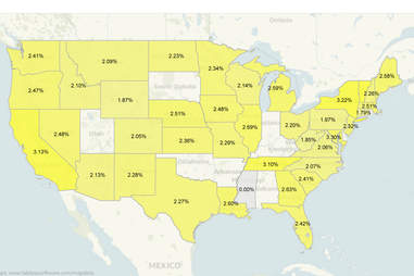 States by sparkling wine