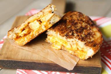 BBQ chicken grilled cheese sandwich