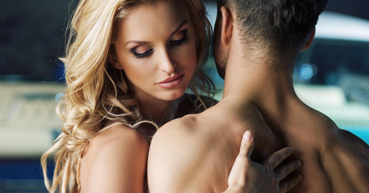 girl seducing a man