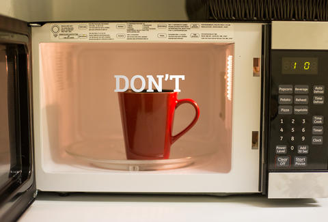 coffee in microwave
