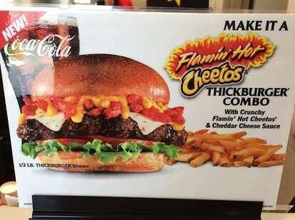 Flamin' Hot Cheetos burger