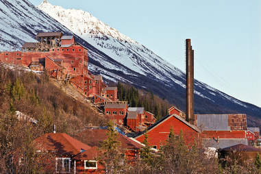 Mountain houses in Kennecott, Alaska