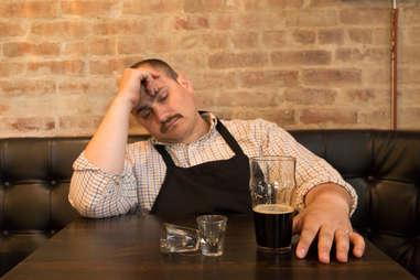 tired waiter