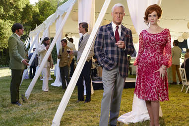 Joan and Roger from Mad Men