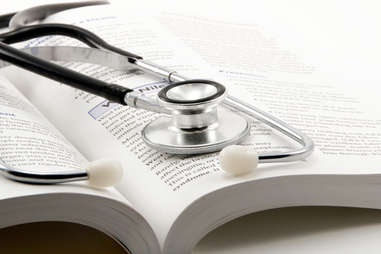 Stethoscope with book