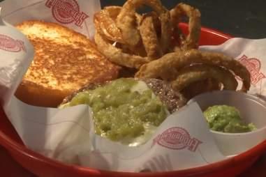 Fuddruckers green chile burger