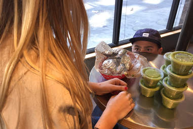 hitting on a girl at chipotle