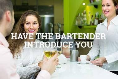 woman at a bar